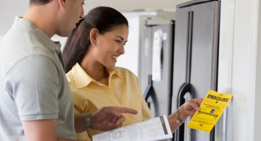 Check the energy rating when shopping for an Energy Star refrigerator, microwave, dishwasher, washer or dryer.